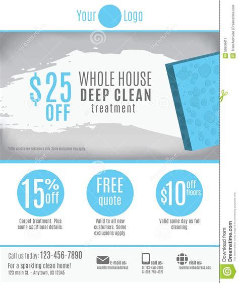 cleaning services advertising templates cleaning service flyer template advertisement stock vector