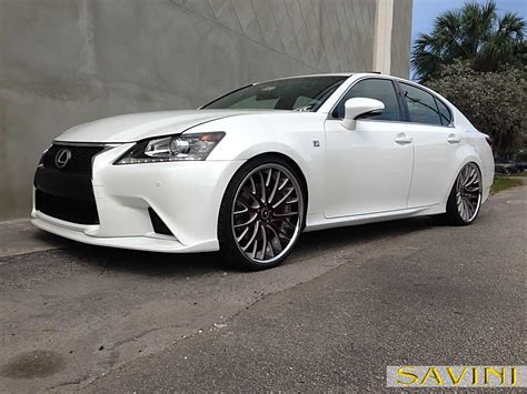 burgundy lexus with black rims gs savini wheels
