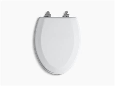 toilet seat hinges kohler triko elongated toilet seat with chrome hinges k 4722 t