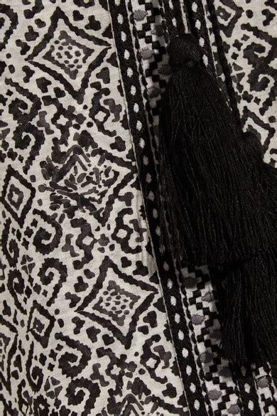 Ira Maxi talitha ira printed cotton and silk blend voile maxi