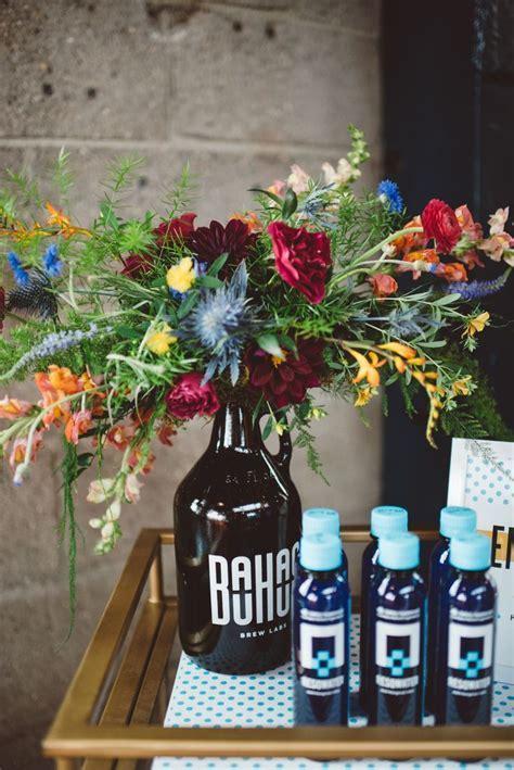 Wildflower Arrangements in Beer Growlers   Rachael's