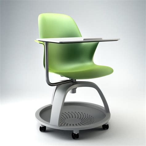 Node School Desk by Node Chair Steelcase 3d Max