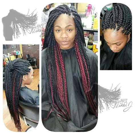 two toned braids two toned box braids protective hairstyles pinterest