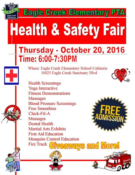 Free Health Fair Giveaways - eagle creek elementary pta health and safety fair