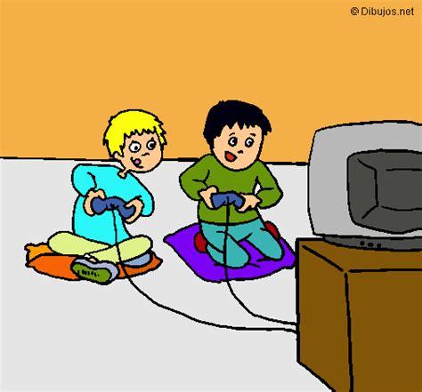dibujos de niños jugando xbox dibujo de ni 241 os jugando pintado por floropirana en dibujos
