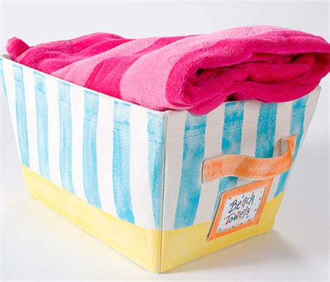 beach towel diy basket diyideacentercom