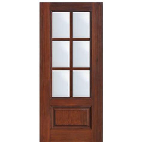 4 Lite Exterior Door 4 Lite Exterior Door 36 Quot X80 Quot 4 Lite Mahogany Craftsman Entry Door With Clear Beveled