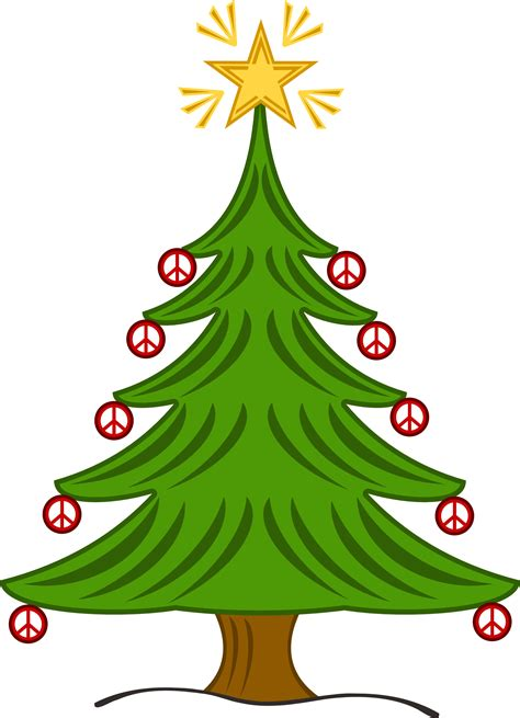 clipartist net 187 clip art 187 xmas christmas tree 14 peace