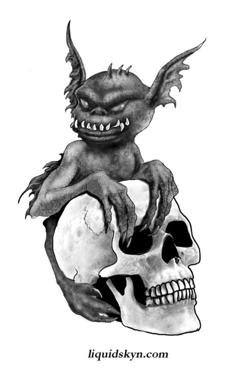 goblin tattoo designs skull and ink goblin design