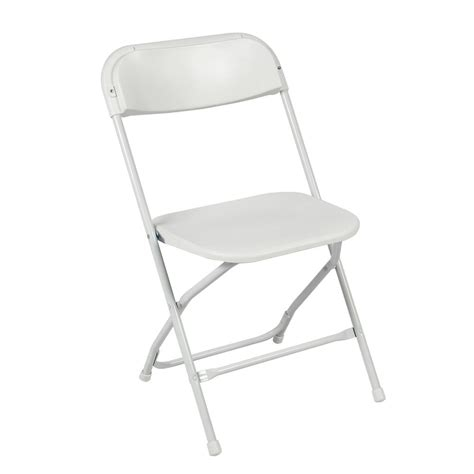 fold chair 5 pack commercial white plastic folding stackable wedding
