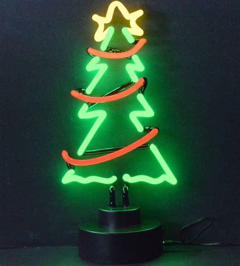 neon christmas lights tree with garland neon sculpture in neon light