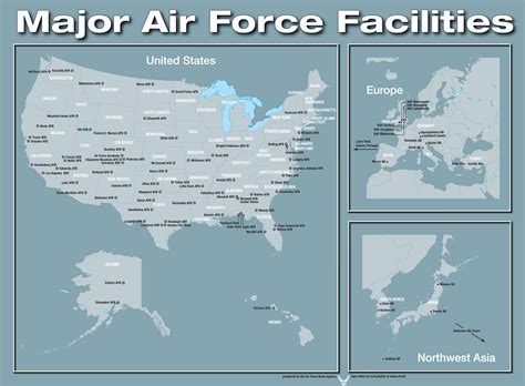 map of united states bases closed facilities of the united states air