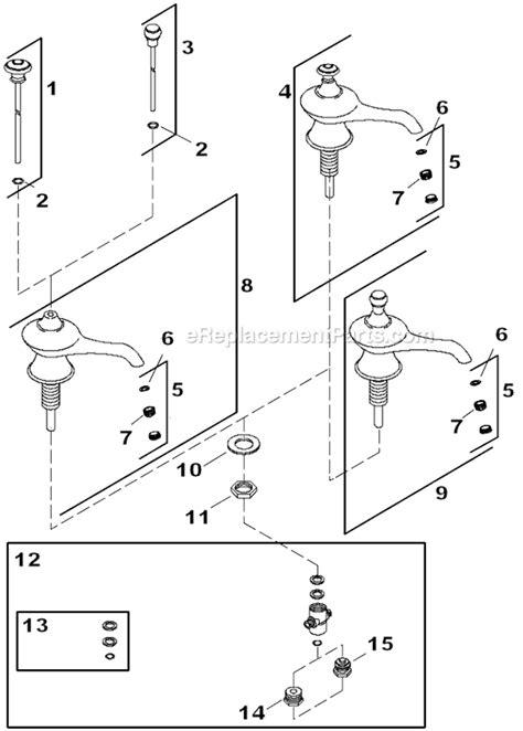 Kohler Faucets Parts Diagrams by Kohler K 16102 4a Parts List And Diagram