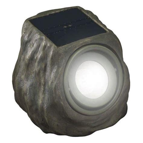 outdoor spot light duracell solar powered green rock outdoor spot light