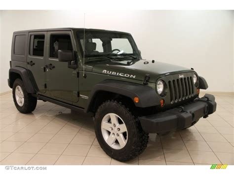 green jeep rubicon 2009 jeep green metallic jeep wrangler unlimited rubicon