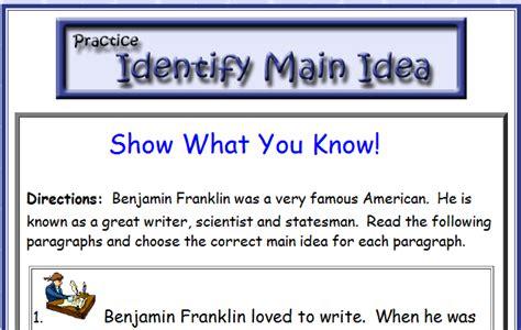 theme quiz quia third grade language skill builders main idea and theme