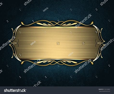 Design Template Blue Texture Beautiful Gold Stock Illustration 125310665 Shutterstock Nameplate Design Templates