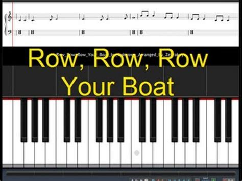 row your boat piano numbers how to play row row row your boat youtube