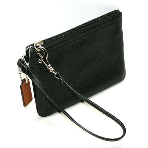 Small Wristlet coach park leather small wristlet black 51763 coach 51763