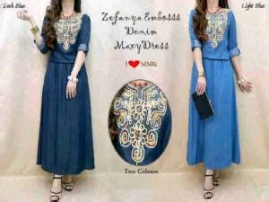 Almehra Maxy Dress Bunga Gamis Panjang Muslim baju gamis