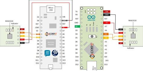 wiring xtrinsic mag3110 3 axis digital magnetometer on