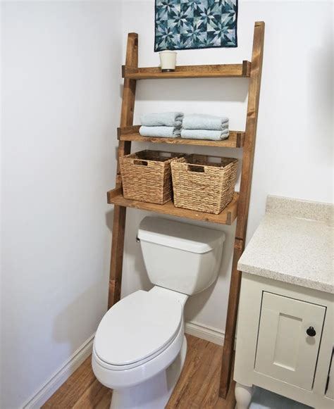 over the toilet ladder 47 ideas for repurposing old ladders farmhouse style