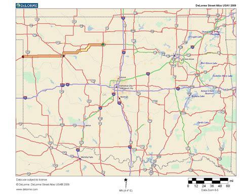 road map of oklahoma and texas oklahoma highways original oklahoma route 13