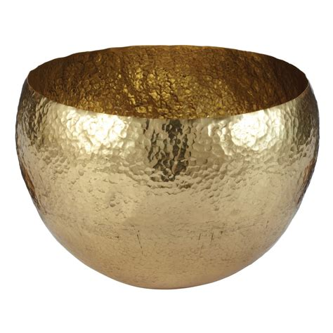 Bath Shower Inserts gold hammered brass bowl large