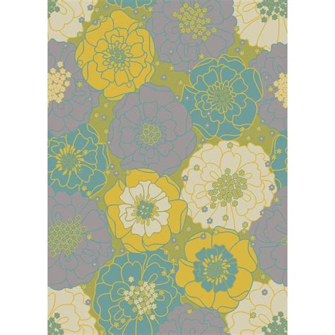 Home Depot Outdoor Area Rugs by Nourison Home Garden Chrysanthemum Green 10 Ft X 13 Ft
