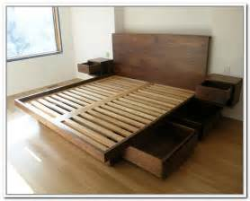 King Bed Storage Frame Modus Furniture Cally Solid Wood Storage Bed Bench With Storage