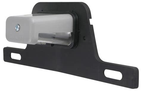 trailer license plate bracket with light gray coated license plate light w mounting bracket 2