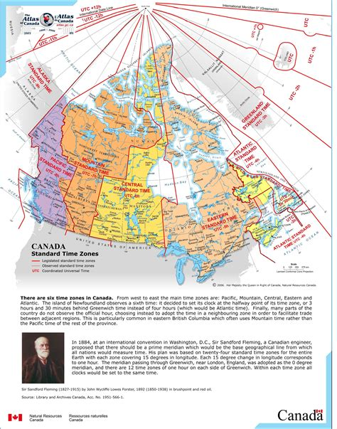 canadian map of timezones maps canadian and world studies