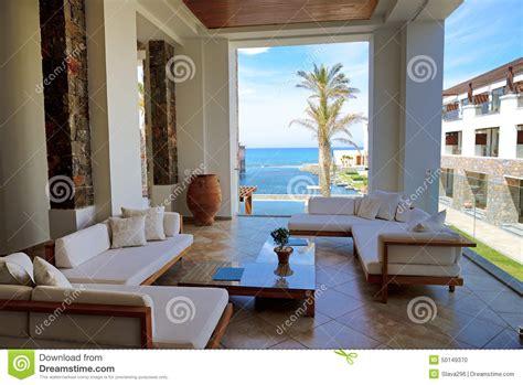 terrazzi di lusso terrazzo di vista mare a hote di lusso fotografia