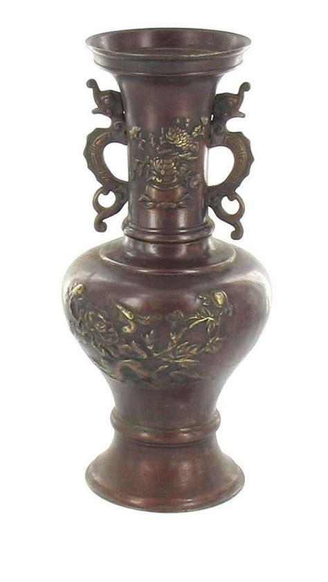 Antique Looking Vases by Antique Bronze Bird Serpent