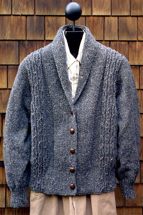 mens shawl collar sweater knitting pattern mari knitting patterns