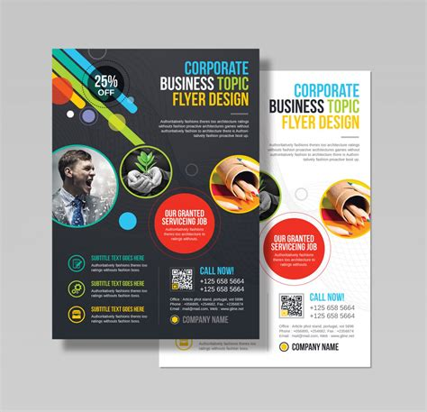 Athena Professional Business Flyer Design Template 001543 Template Catalog Flyers Design Templates
