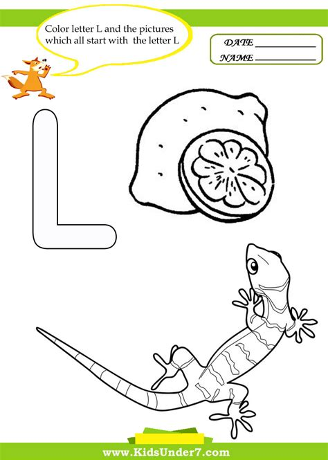 letter l worksheets for preschool letter l