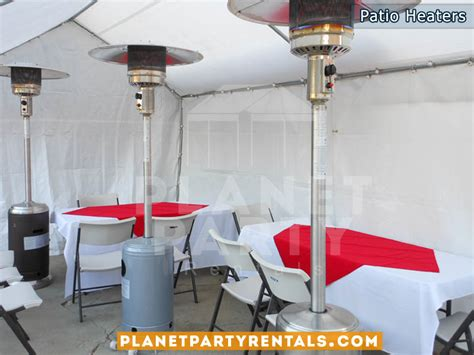 outdoor patio heater rentals with propane tank balloon