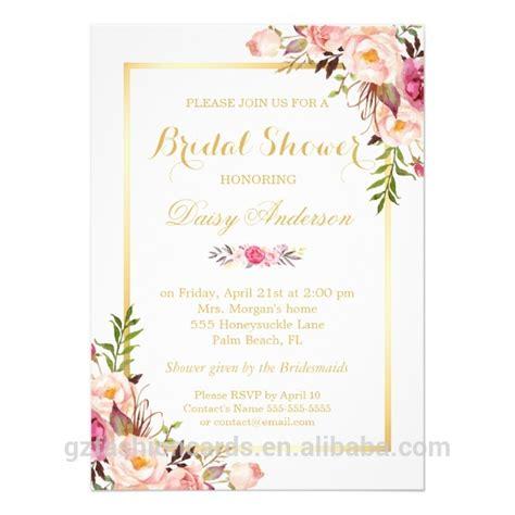 Undangan Pernikahan Floral pastel warna air floral undangan pernikahan chic floral
