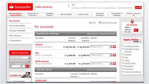 santander consumer bank onlinebanking image gallery santander accounts
