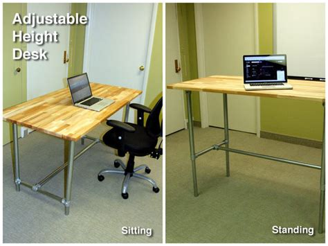 Standing And Sitting Desk Adjustable Height Sitting And Standing Desk