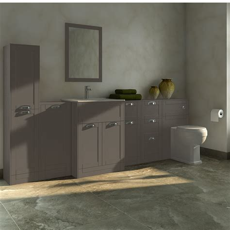 Furniture Bathroom Suites Nottingham Grey Furniture Bathroom Suite With Park Royal Back To Wall Toilet