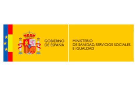 ministerio de sanidad servicios sociales e igualdad patrocinadores ministerio de sanidad servicios sociales