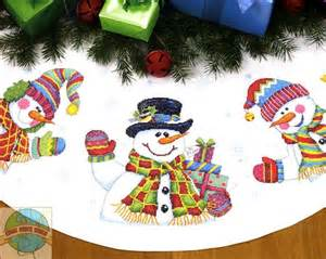 tree skirts snowman tree and cross stitch on pinterest