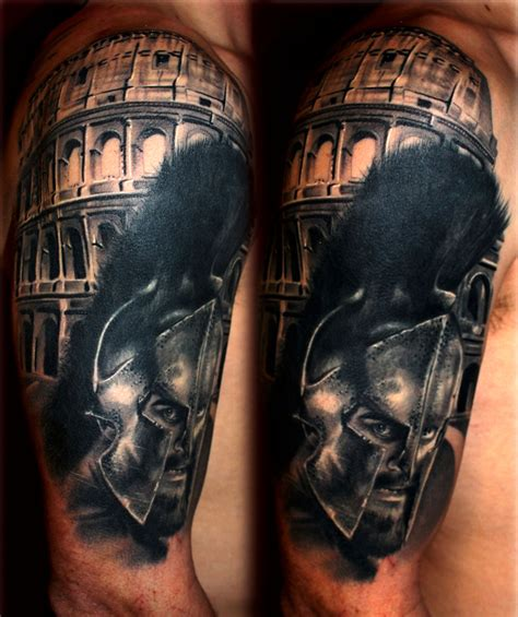 gladiator tattoo alan hooks certified artist