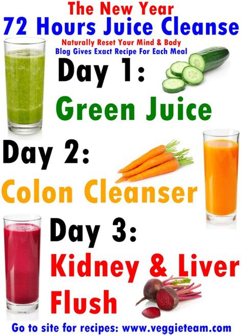 How To Detox Junk Food And Start Being Healthy by The New Year 72 Hours Juice Cleanse Recipe 3 Day Juice