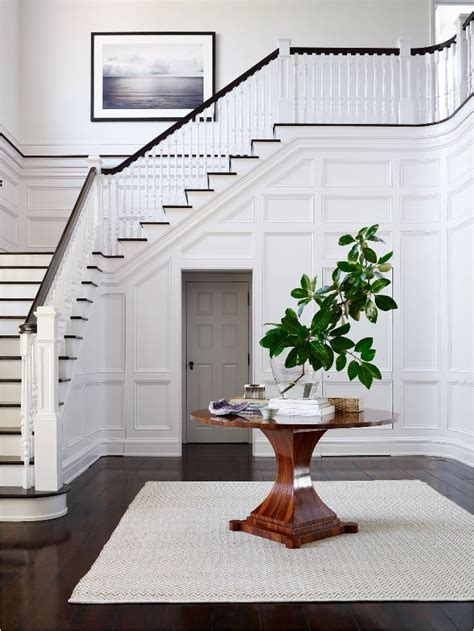 foyer wainscoting design ideas lake house staircase makeover part i in my own style