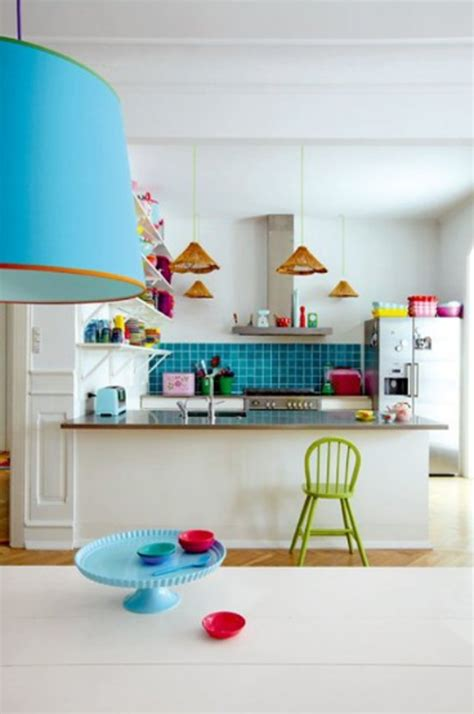 Home Decoration Colour Colorful Kitchen Decor Neiltortorella