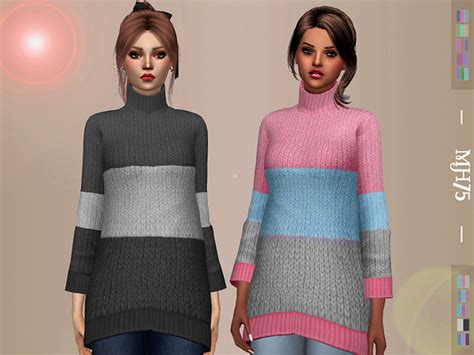 oversized sweater sims 4 cc margeh 75 s s4 oversized sweater