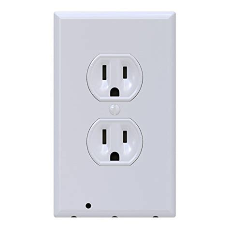built in night light outlet snappower guidelight outlet coverplate whdu with led